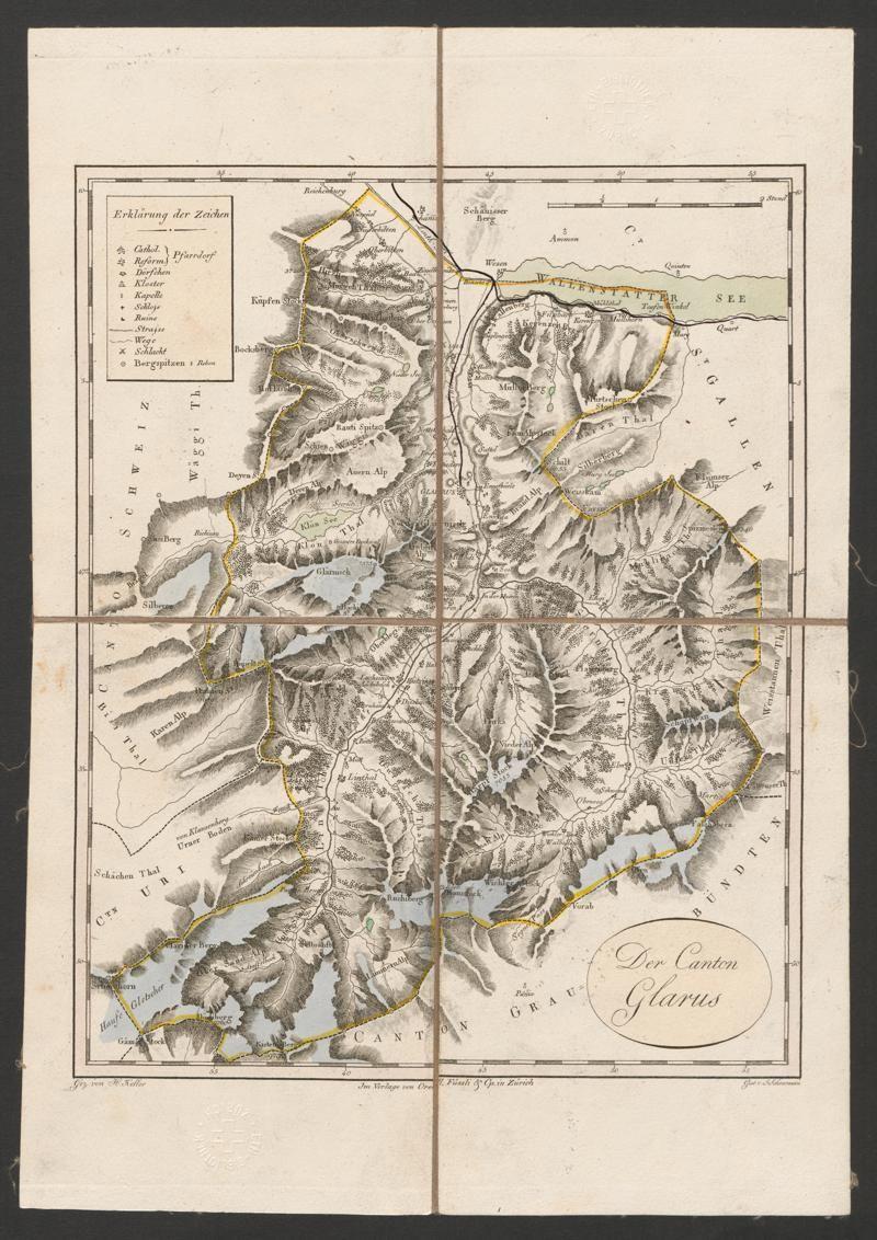Atlas De La Suisse Canton Glarus Rar K 410 8 Bibliothek