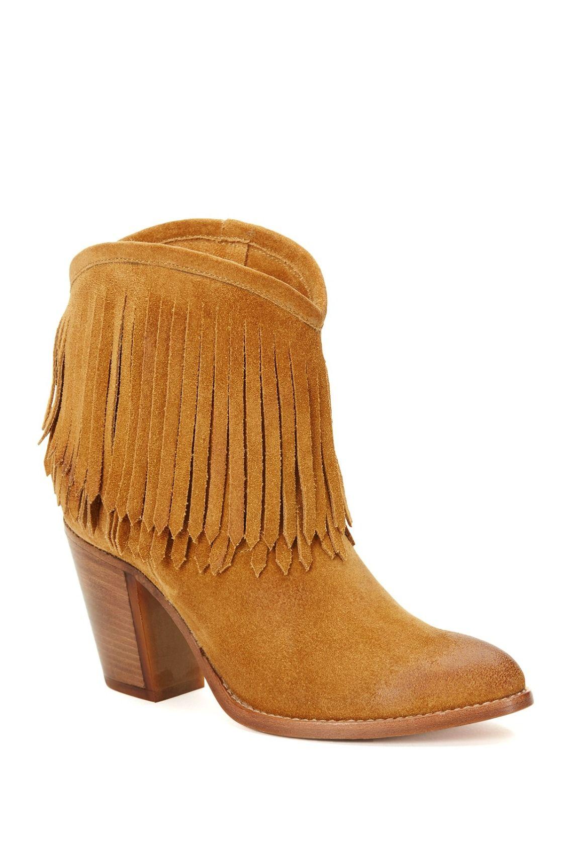 37b859d9dec Fringe fun! Frye Ilana Fringe Short Boots
