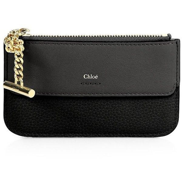 31521ddf9c Chloé Women's Joe Calfskin Leather Card Holder (14,520 PHP) ❤ liked ...