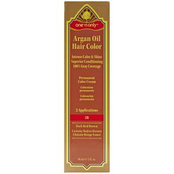 One N Only Argan Oil Hair Color Permanent Red Shades 3r Dark Red Brown Argan Oil Hair Argan Oil Hair Color Hair Color