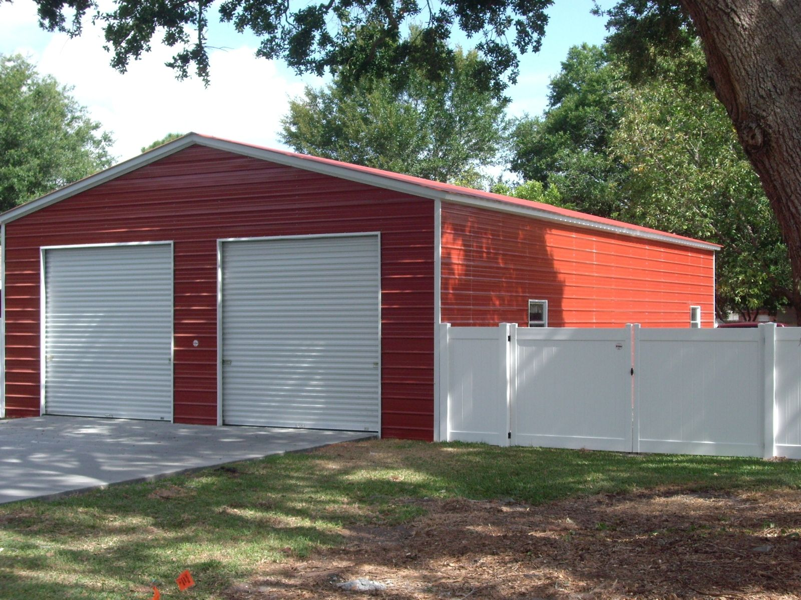 Larger 2 Car Garage Shop With Two 10x10 Roll Up Doors 2windows And Walk In Door Many Sizes And Options Call 1 888 House With Porch Roll Up Doors Shed Doors