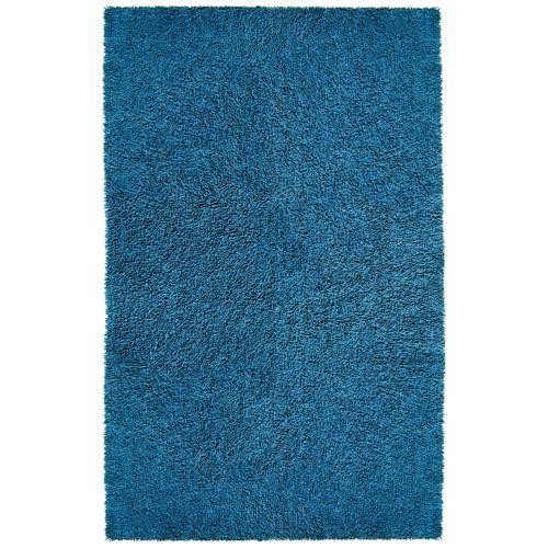 Shagadelic Chenille Shag Blue Rectangular: 2 Ft. 6 In. x 4 Ft. 2 In. Rug - (In Rectangular)