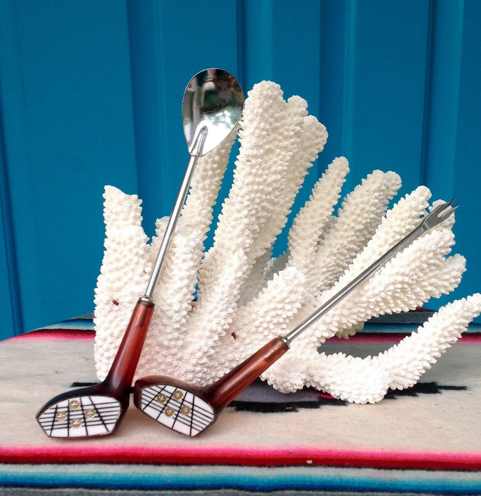 SALE-FREE SHIPPING-Vintage-Set of 2-Golf Club w/Dice Barware ...