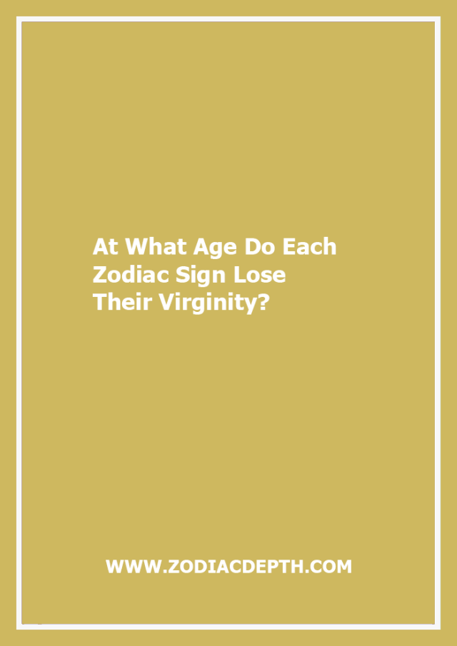 facts about losing your virginity