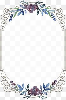 Flowers Frame Continental Creative Wedding Invitations Vintage