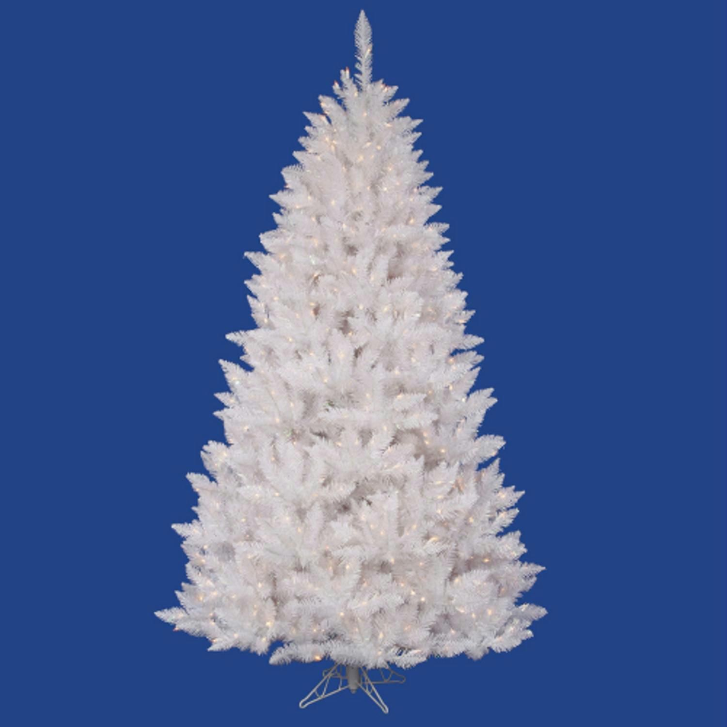 95 Pre Lit White Sparkle Spruce Artificial Christmas Tree  Clear