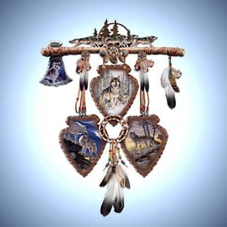 native american inspired wall decor collection spirits of the pack - Native American Decor