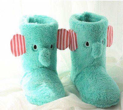 Cute Elephant Winter Indoor Boots for Women