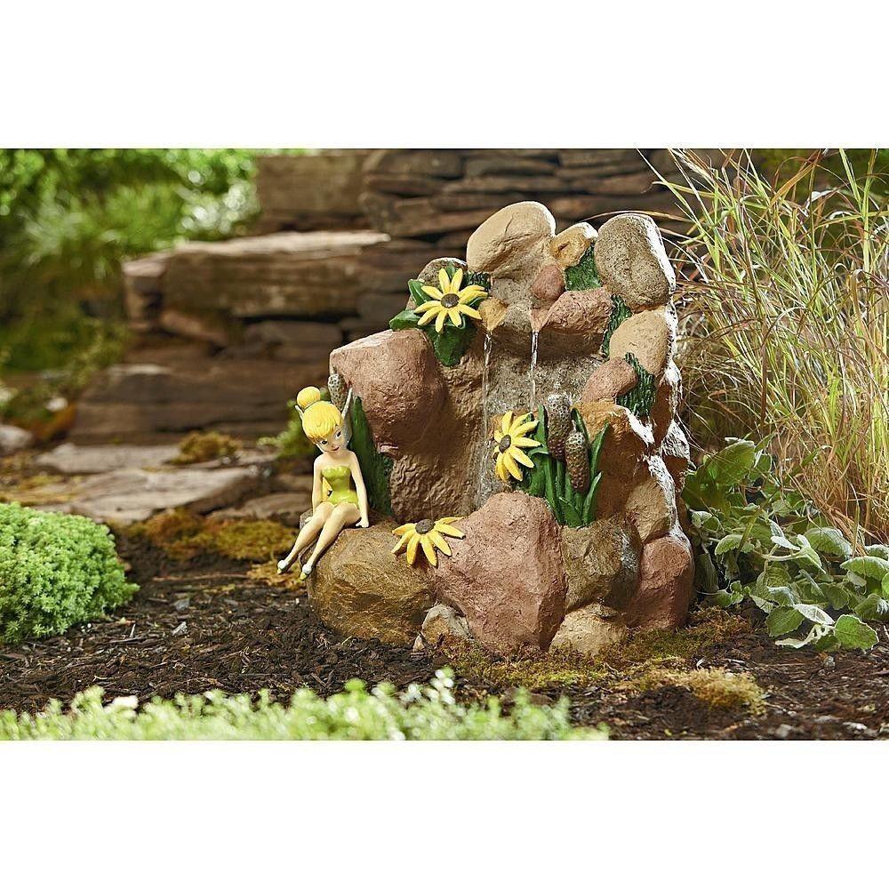 Disney Tinkerbell Water Fountain Outdoor Garden Statue Decor Patio ...