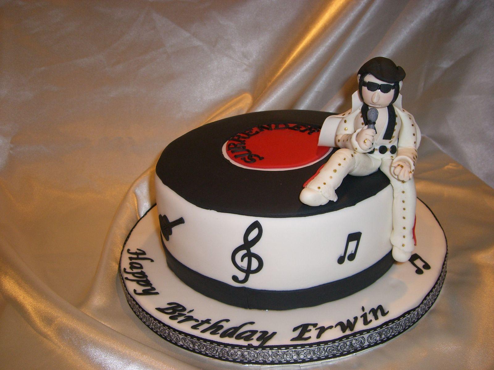 Elvis Singing Happy Birthday Cake Elvislushilicious Pinterest
