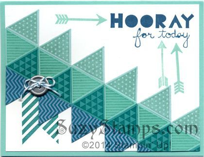 stampin up geometrical card | Stampin' Up! Cards - 2014-05 Class - Geometrical and Hearts a Flutter ...