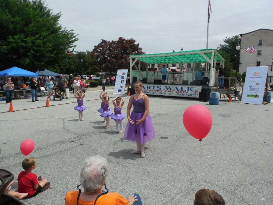 Beautiful dancing ladies from The Dance Center perform at 16th Annual Arts Walk