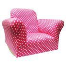 Newco Hot Pink Upholstered Kids' Rocker Chair  #DiaperscomNursery