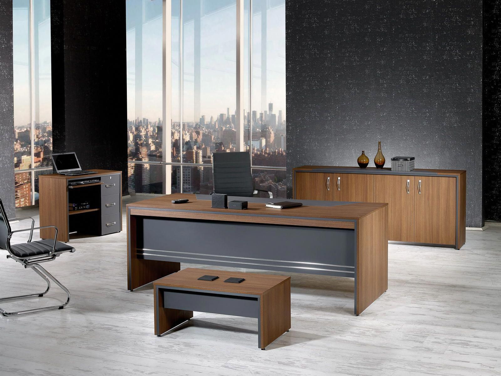Mare Collection Modern Arya 4 Piece Desk Home Office Suite