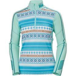 Helly Hansen Dame Lifa Active Graphic 1/2 Zip Funktionsunterwäsche Blau M – Spring Outfit