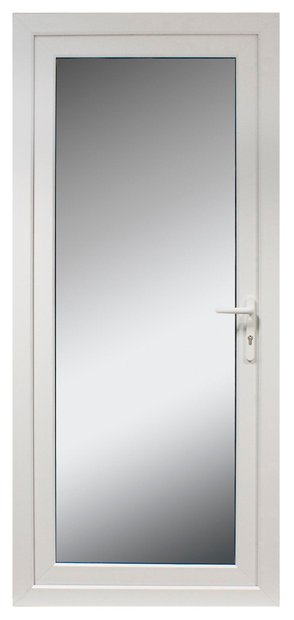 235 White PVCu Fully Glazed External Back Door & Frame Lh, (H)2055mm ...