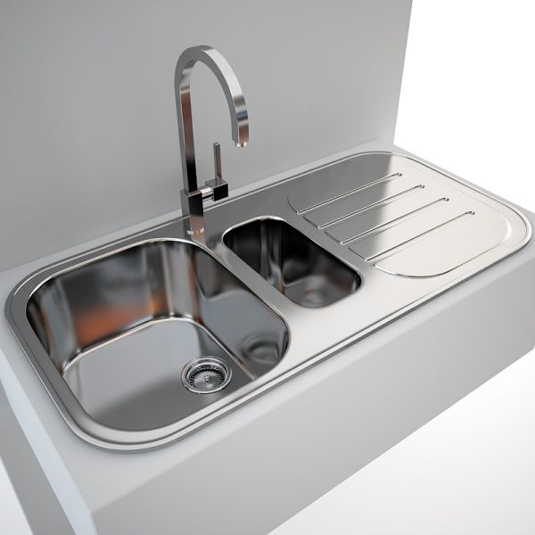kitchen sink blanco claris 6 s tap gessi quadro interiors 3d models - Kitchen Sink Models