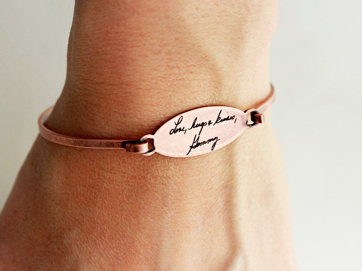 cb36494c7c255 Actual Handwriting Bracelet - Custom Handwriting Bracelet, Signature ...