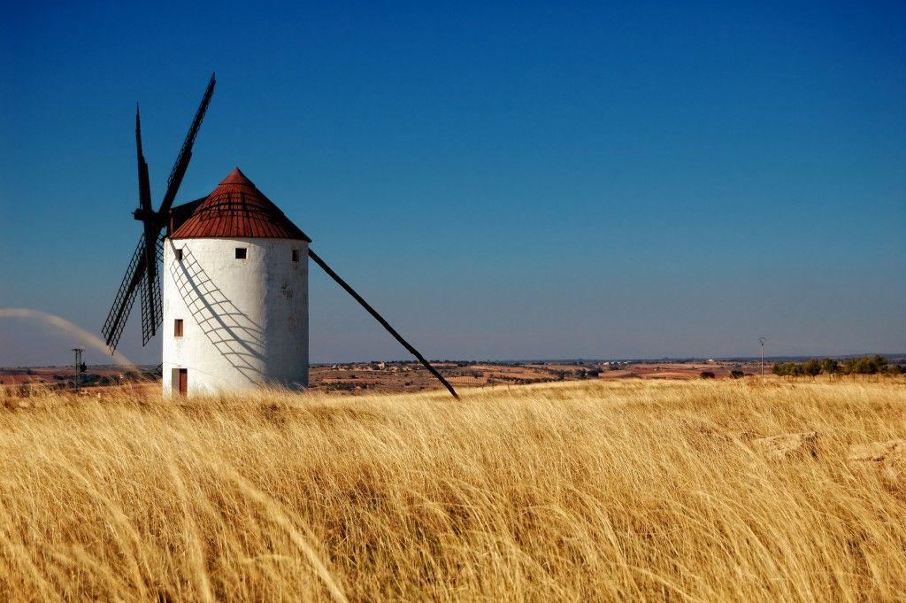 Molino en Campo de Criptana, Ciudad Real  Mill at Campo de Criptana, Ciudad Real, #Spain
