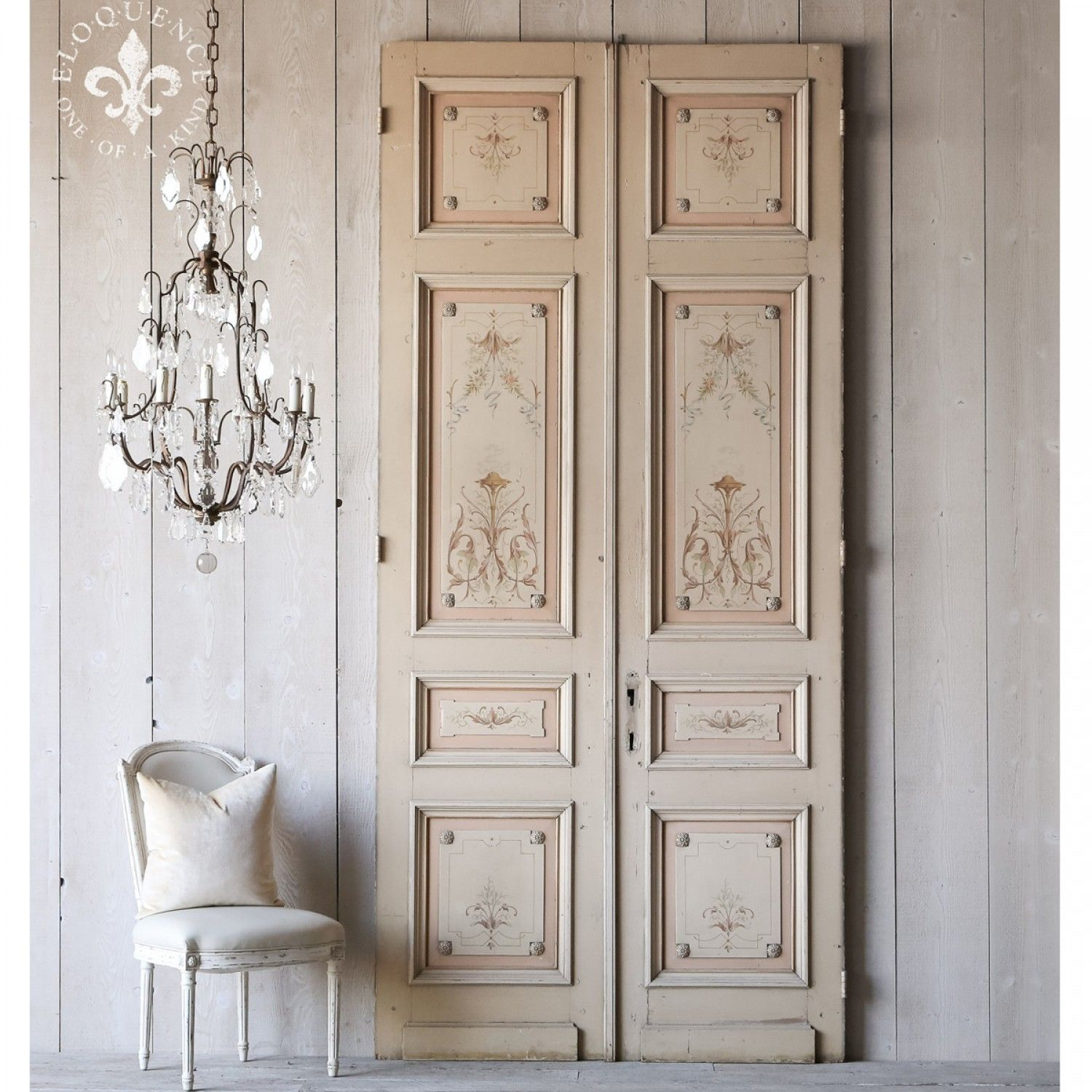 Beau Antique Double Doors Interior