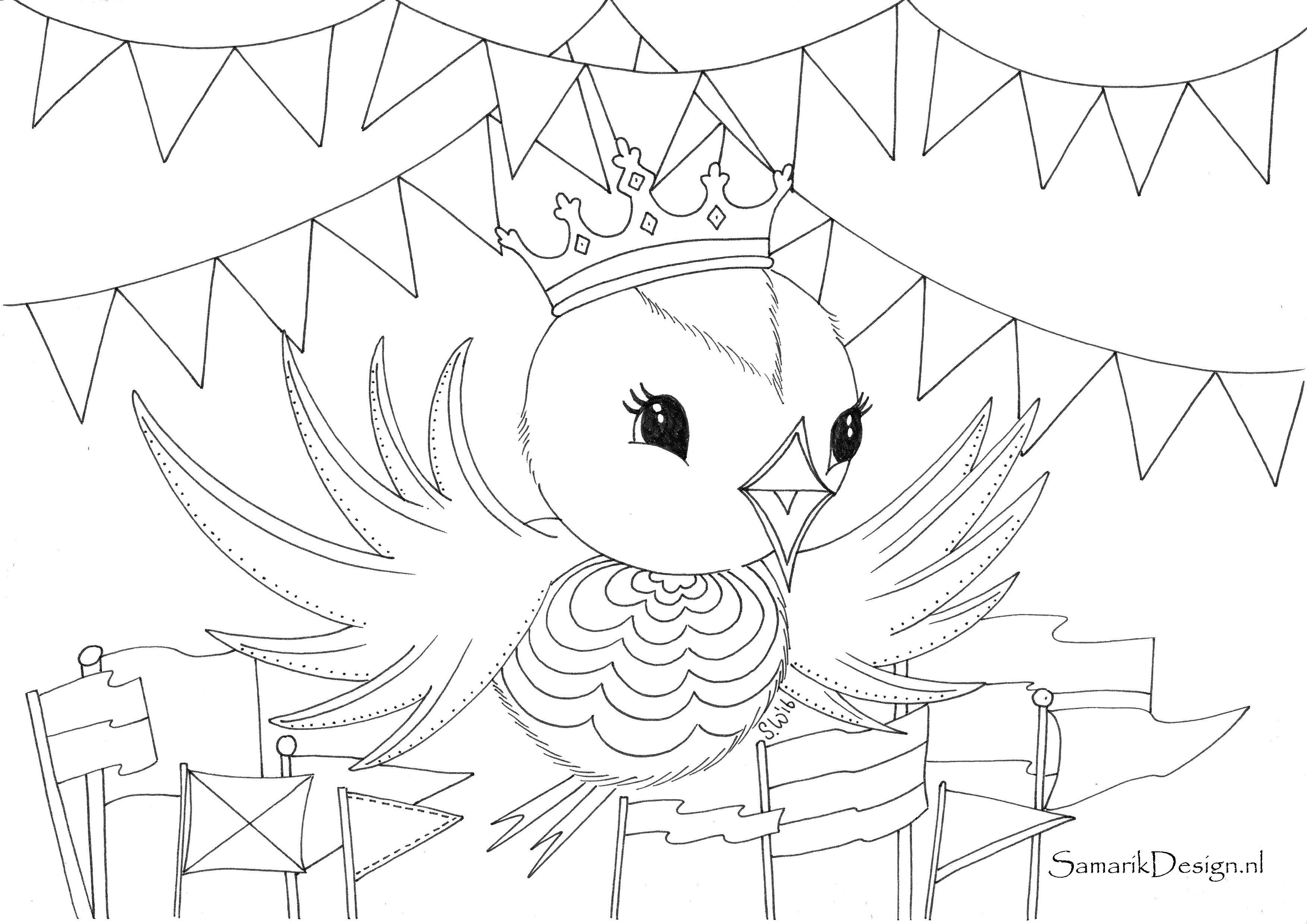Koningsdag Kleurplaat Nino2 Pinterest