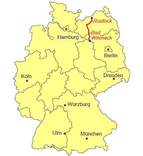Ubersichtskarte Jakobsweg Rostock Bad Wilsnack Karte Deutschland Jacobsweg Jakobsweg
