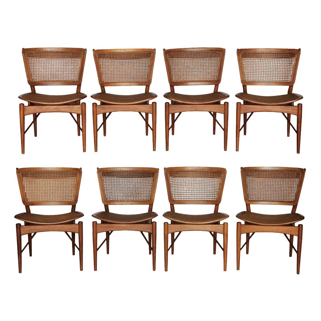 Wondrous 1950S Vintage Finn Juhl For Baker Teak Dining Chairs Set Theyellowbook Wood Chair Design Ideas Theyellowbookinfo