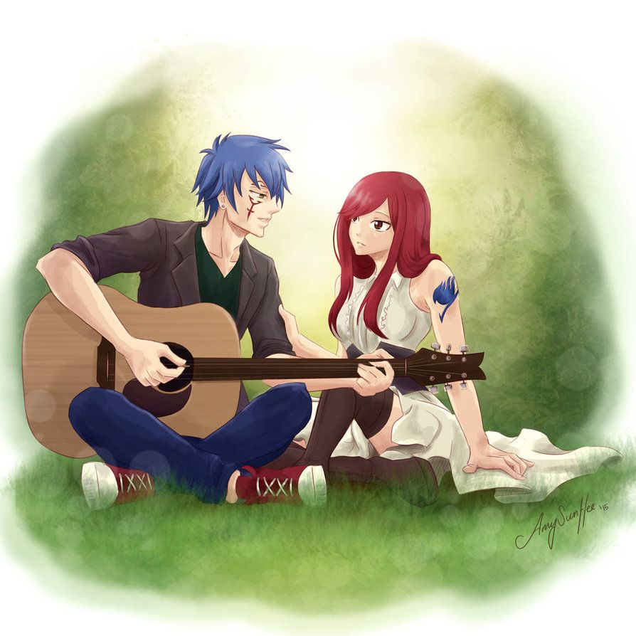 I want a guy who plays guitar for me, wears nice clothes, has blue hair, looks like Jellal, is Jellal....