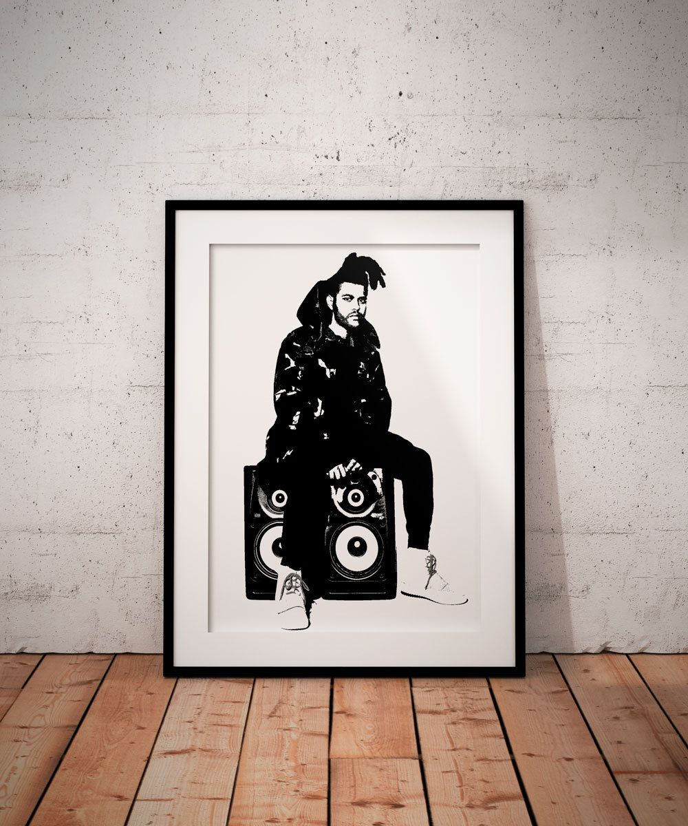Wall Art Prints And Posters The Weeknd Printable Music Poster Print Wall Art Decor Instant