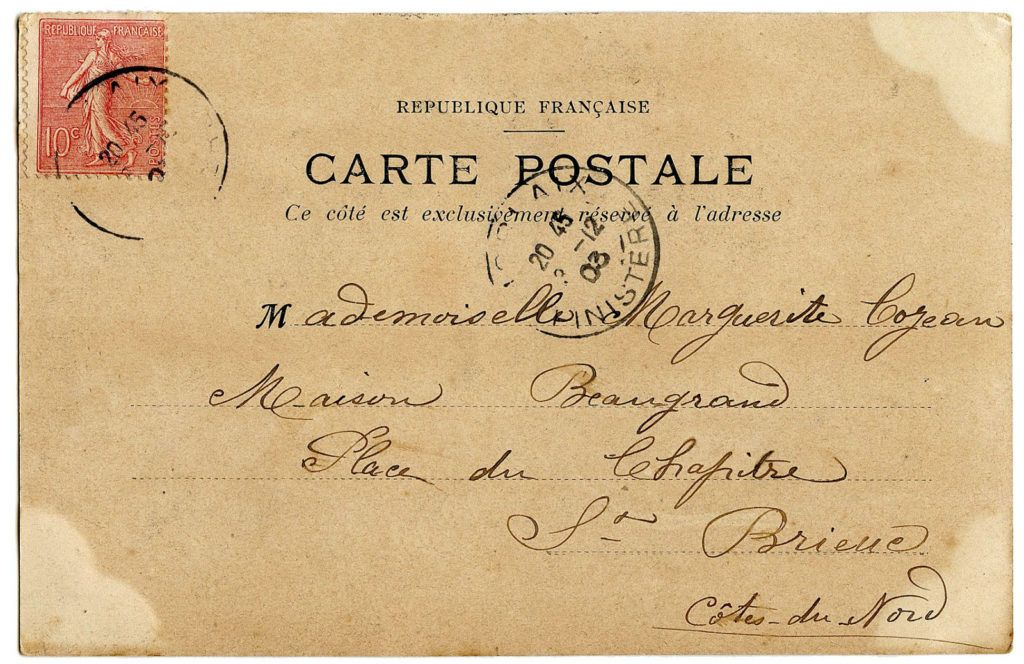 8 Vintage Ephemera Clip Art Carte Postale Vintage Postcards