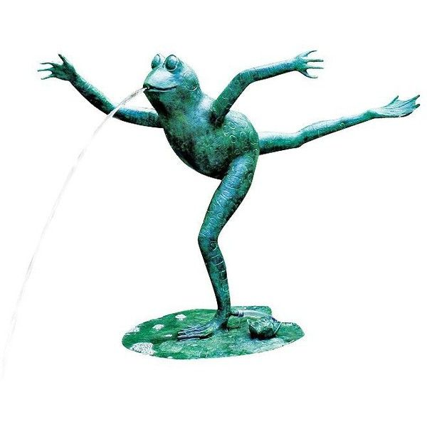 Universal Lighting And Decor Arabesque Frog Pond Spitter Fountain 950 Liked On Polyvore