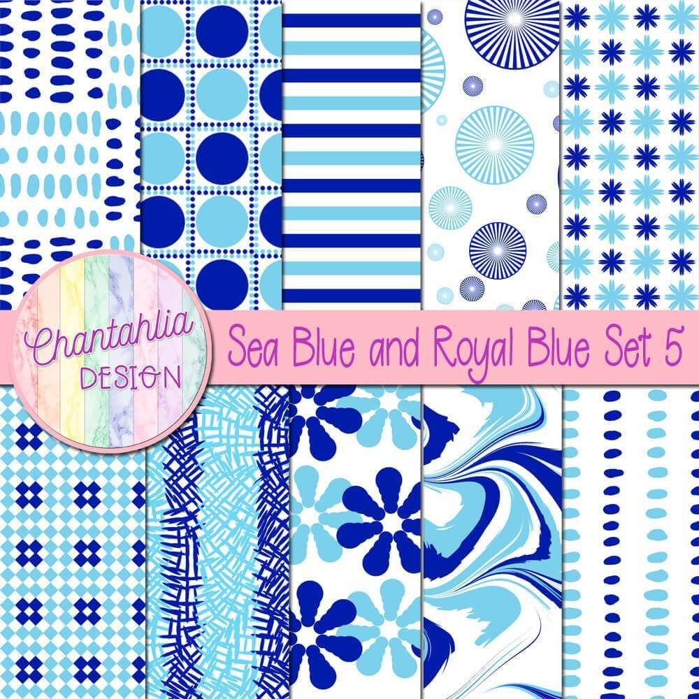 Free Digital Paper In Sea Blue And Royal Blue Patterns Use Them In Your Digital Scrapb Digital Paper Free Digital Scrapbooking Paper Free Digital Scrapbooking