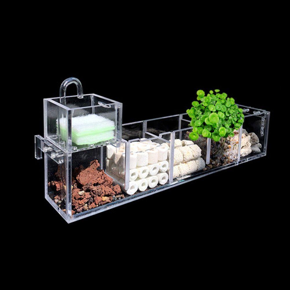 aquarium external filter box fish tank filter box without water pump