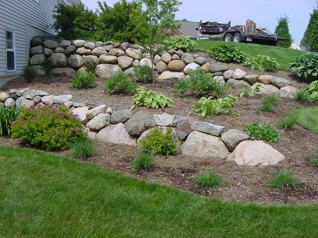Landscaping landscaping boulders in the landscape portage mi landscaping pinterest - Tips using rock landscaping ...