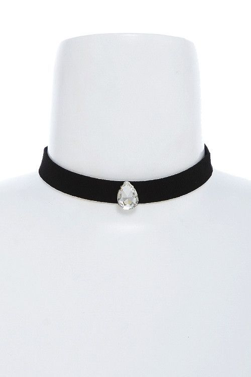 """Bridal Jewelry, holidays, evenings or Prom, the perfect choker. CRYSTAL TEARDROP CHOKER NECKLACE - Approx. 12"""" length - Lobster claw clasp with 3.0"""" extender - Lead/Nickel compliant • FREE SHIPPING US                                                                                                                                                                                 More"""