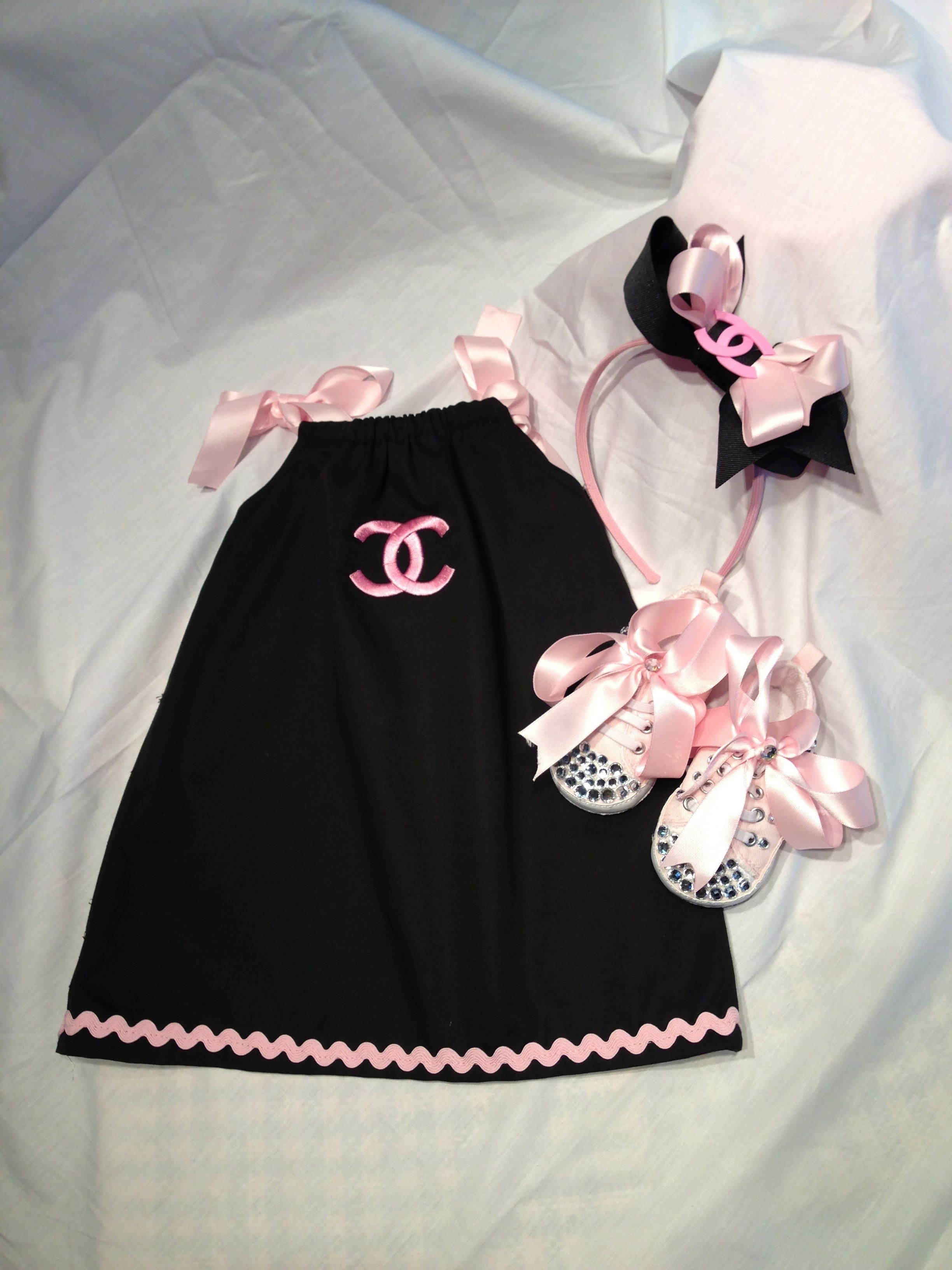f17073e00061 Chanel inspired baby girl gift set Exclusively made by IrinaDesign to order  selimol@aol.com 561-866-6271