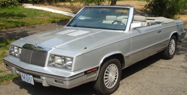 1985 Chrysler Lebaron Convertible Mark Cross Edition For Sale