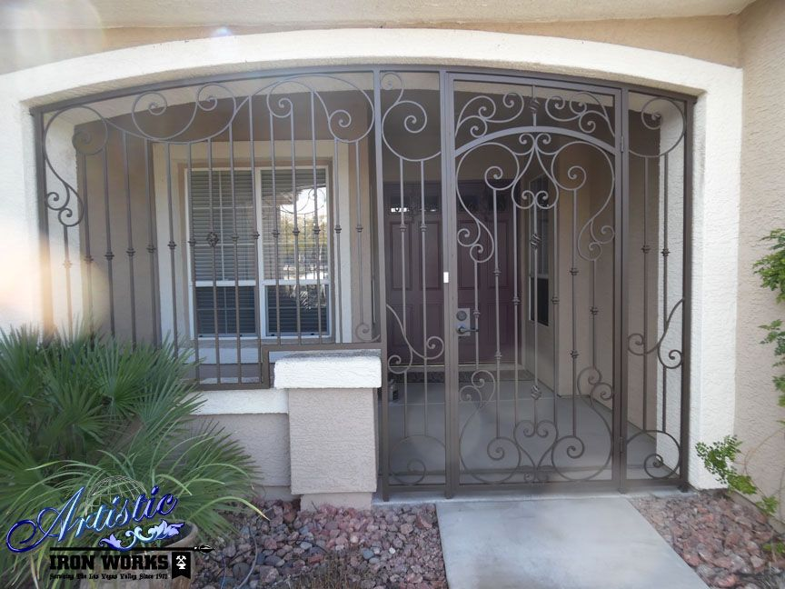 Wrought Iron Entry Enclosure Not The Best Looking Ideaa But As