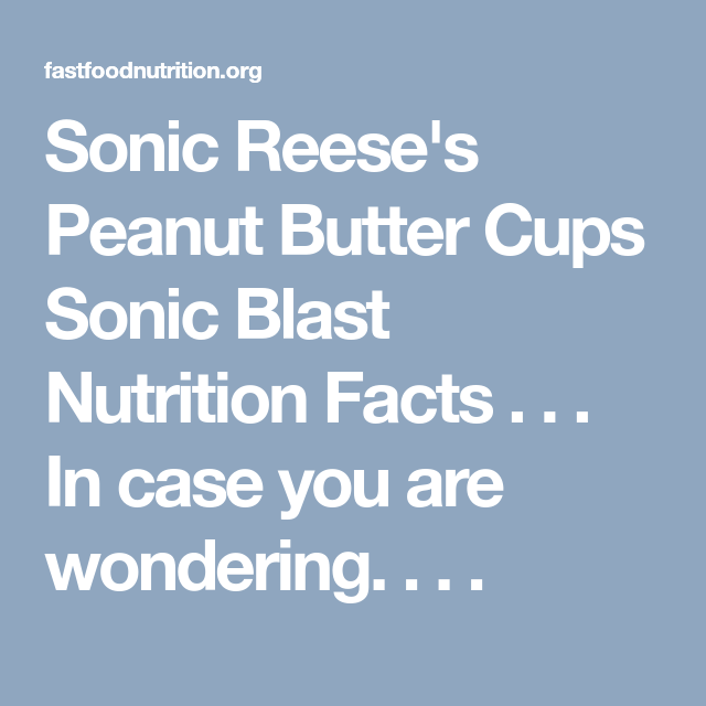 29+ Reeses Cups Nutrition Facts
