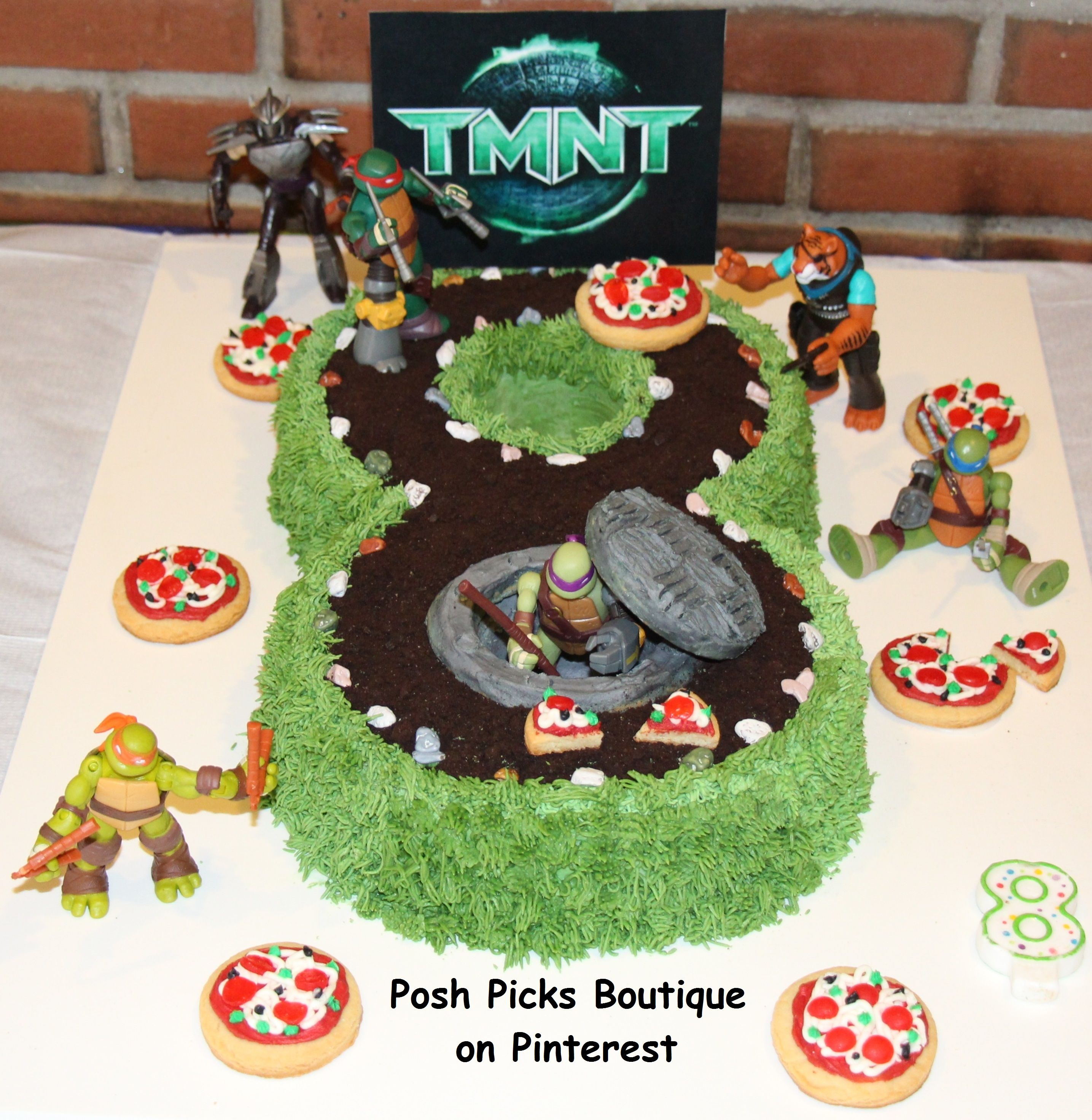 Tmnt Teenage Mutant Ninja Turtles Number 8 Birthday Cake With