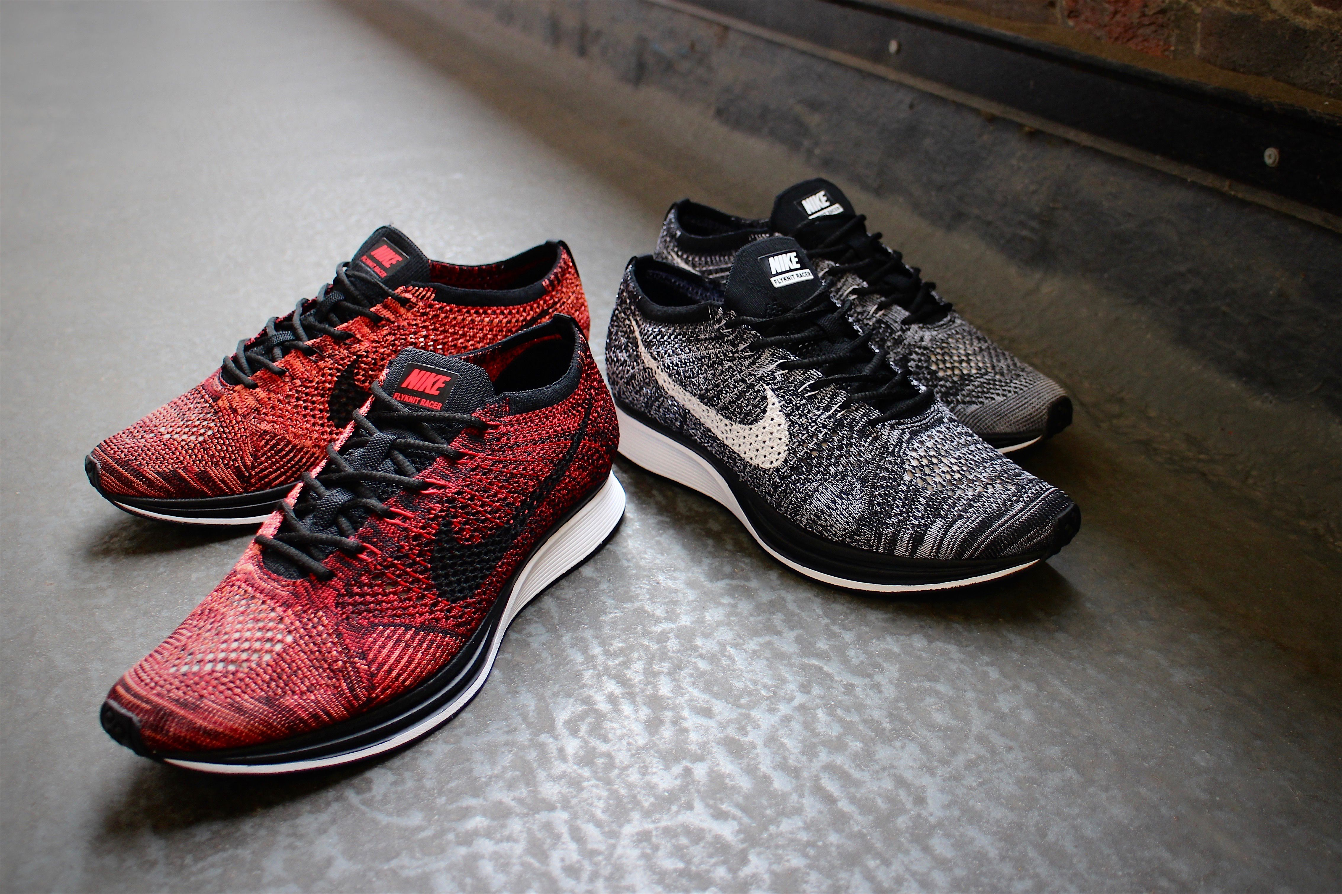 Continuing to be a hugely popular running silhouette since its arrival in  early the Nike Flyknit Racer returns in one of its most popular colourways