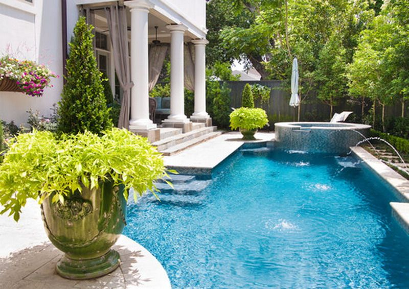 Small Outdoor Pools Ideas | Beautiful Small Backyard Pool Patio Decorating  For The Best Of Small