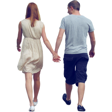 Young Couple Holding Hands People Png People Cutout Render People