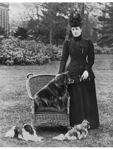 Photographic Print Queen Alexandra With Her Chow Chow Plumpy