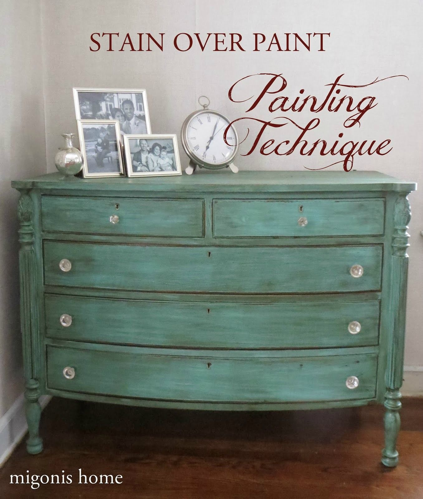 Marvelous Painting Technique: Stain Over Paint. Furniture Painting TechniquesPainting  FurnitureAqua Painted FurnitureDistressed ...