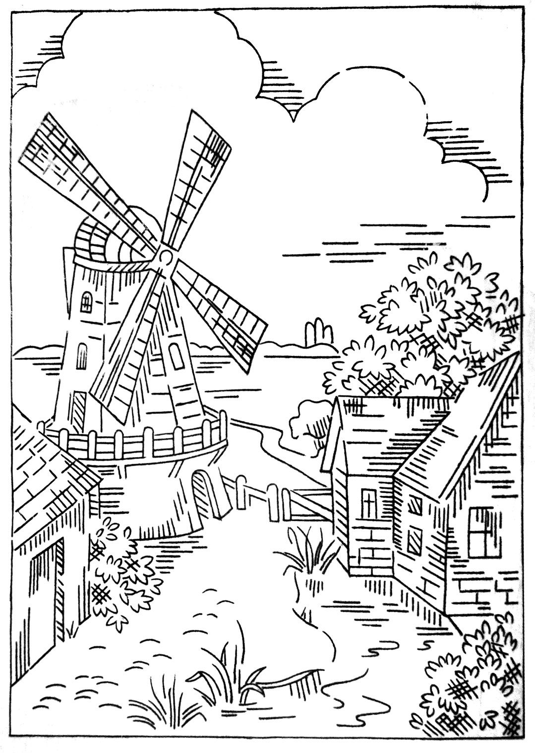 Briggs Windmill Transfer Jpg 1 079 1 517 Pixels Coloring Mood
