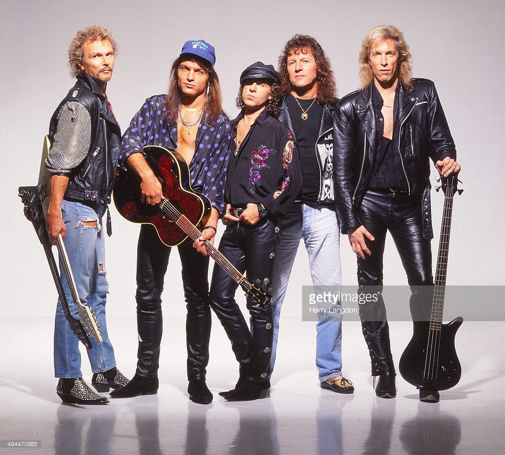 German rock band The Scorpions poses for a portrait in 1992