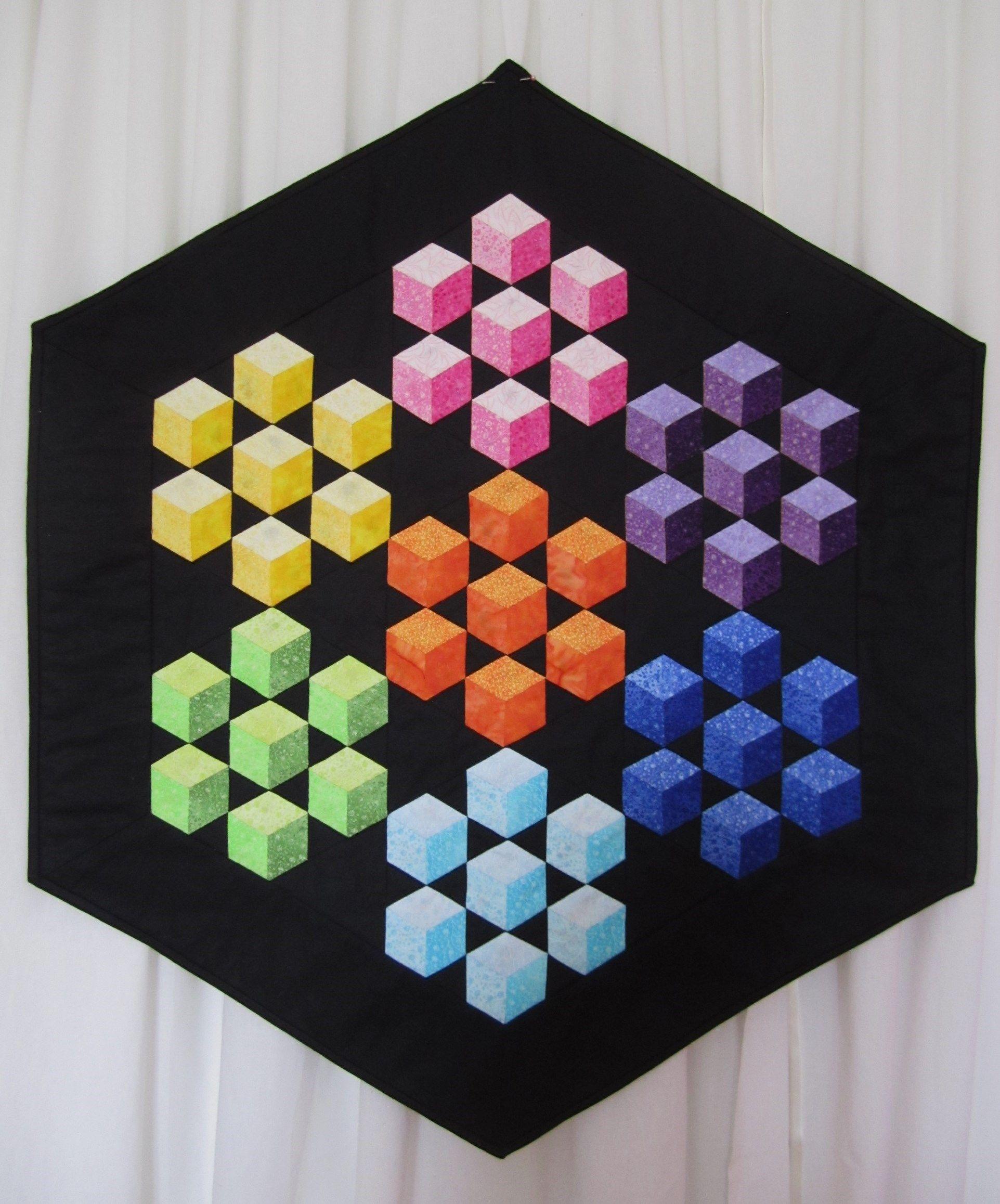 Pin by julie deisinger on EPP quilts | Tumbling blocks quilt