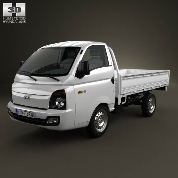 3d Model Of Hyundai Hr Porter Flatbed Truck 2013 Hyundai Commercial Vehicle Kia