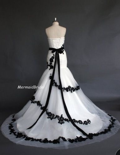 Black And White Dress Would Be A Really Great Wedding Or Masquerade